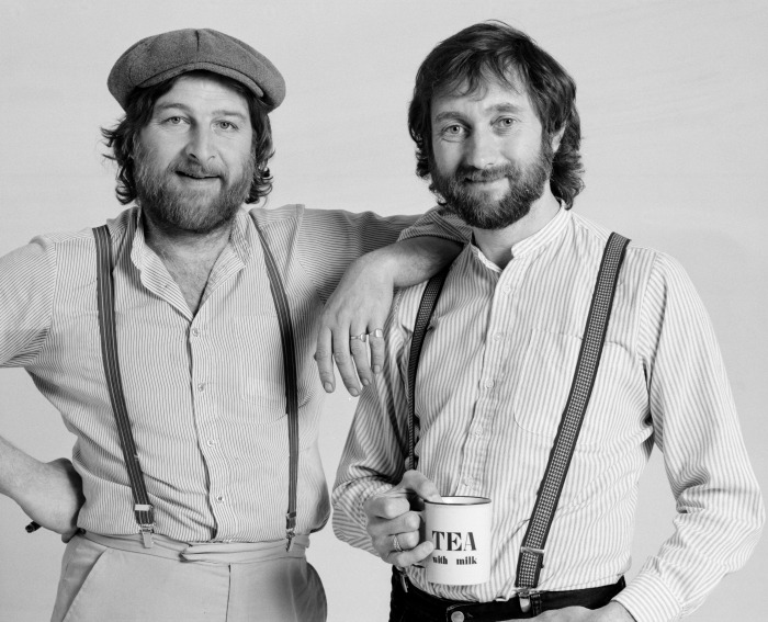 English 'rockney' duo Chas & Dave pictured in 1983. Chas Hodges (left) and Dave Peacock.