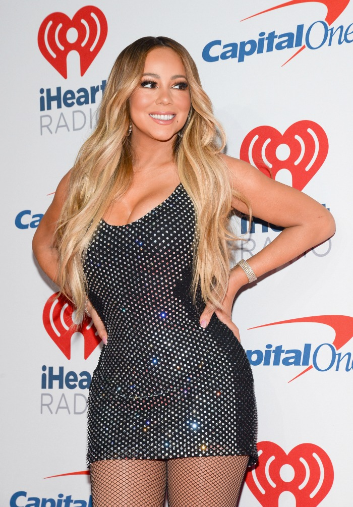 Mariah Carey debuted a glitzy new outfit in Las Vegas for the iHeartRadio Music Festival.