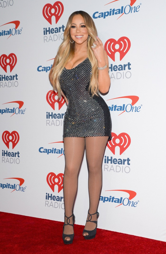 Mariah Carey stepped out in another racy outfit.