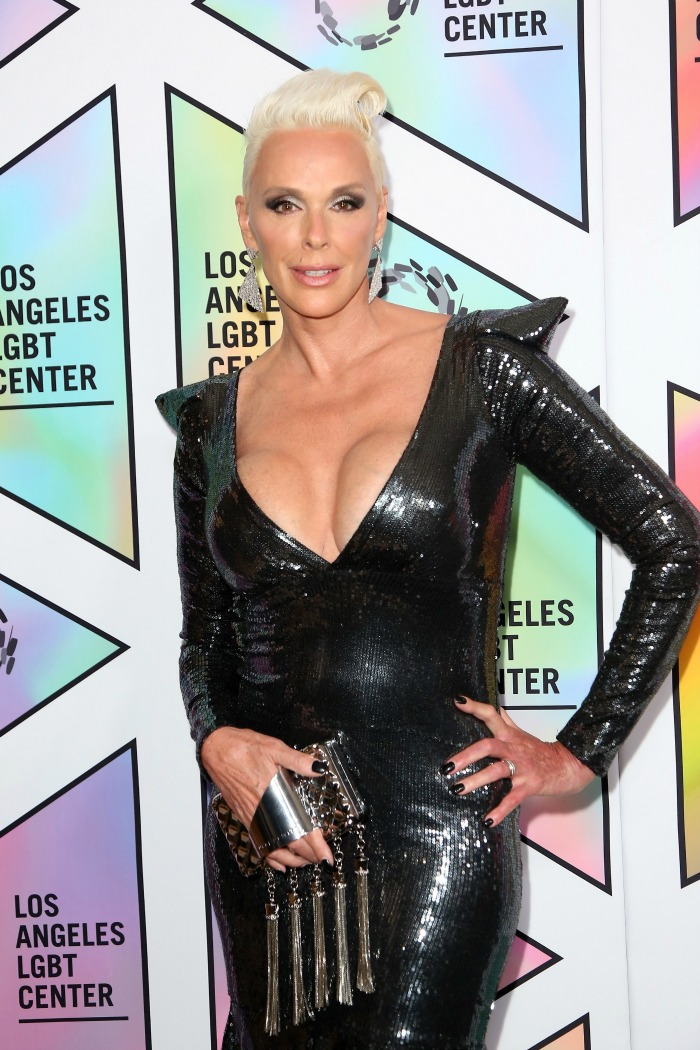 Brigitte Nielsen showed off her cleavage in the outfit. Source: Getty.