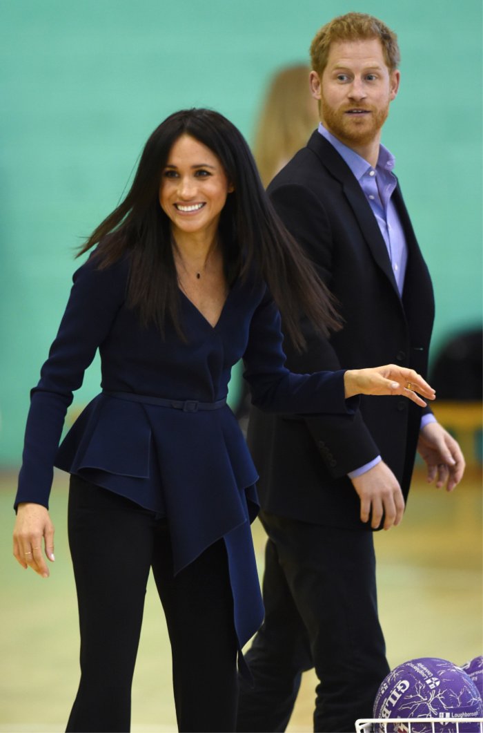 The royal couple went head to head in a netball shootout. Source: Getty.
