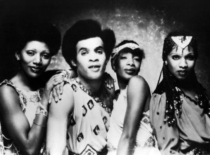 The original line-up of Boney M before their split. Source: Getty.