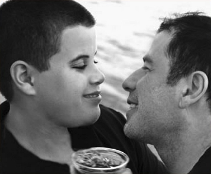 John Travolta with his son Jett. Source: jett-travolta-foundation.org.