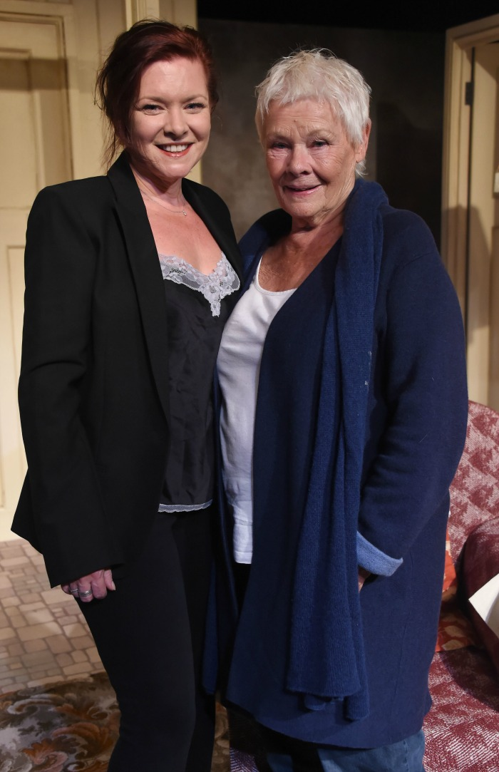 Judy Dench opted for a casual look next to daughter Finty. Source: Getty.