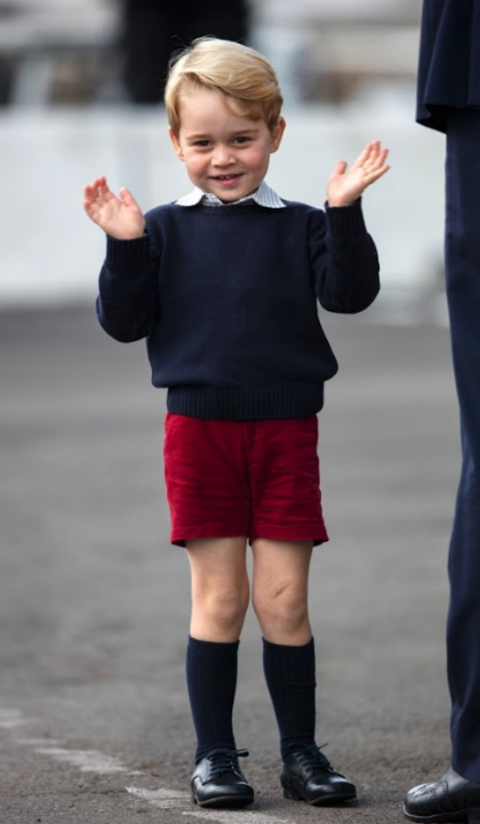 Prince George is regularly seen wearing shorts. Source: Getty.