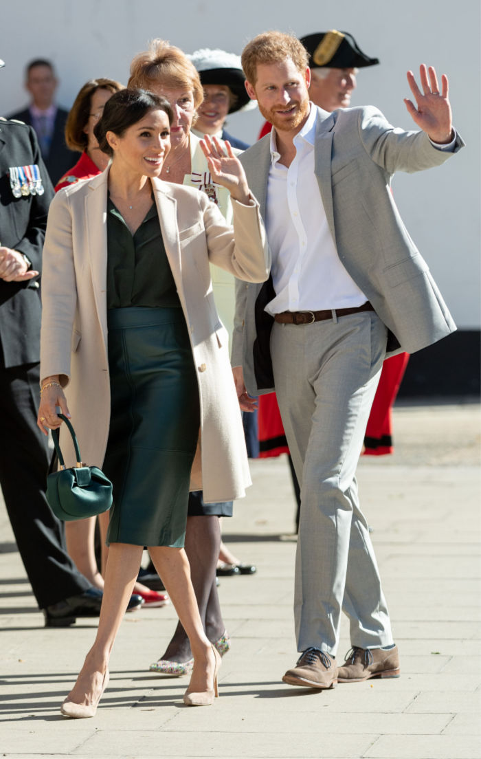 The couple held hands and laughed together throughout the royal visit. Source: Getty.