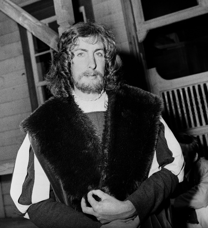 Eric Idle on the set of Monty Python in 1971.