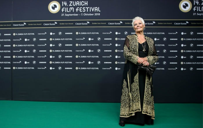 Judi Dench at the 14th annual Zurich Film Festival earlier this week.