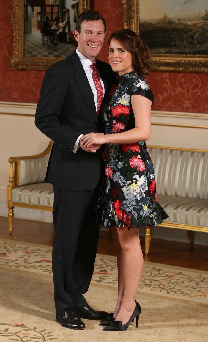 The Palace released this photograph of Princess Eugenie and Jack Brooksbank when they announced their engagement.