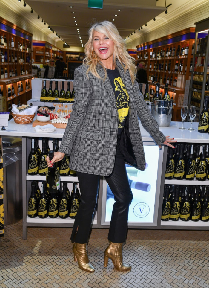 Christie Brinkley, 64, delights fans in Canada at the launch of her new Prosecco range.