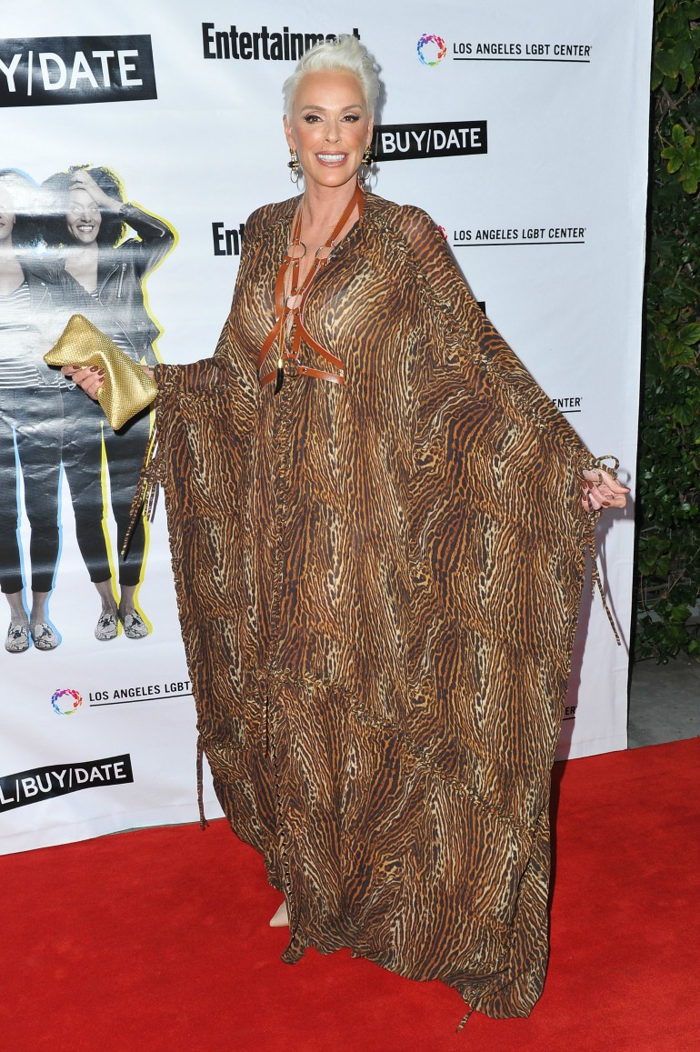 Brigitte Nielsen showed off her age-defying beauty in a wild kaftan as she attended a glitzy, star-studded event in Los Angeles on Sunday night. Source: Getty