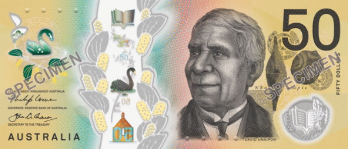 The new Australian $50 note will include features seen on older versions of the note.