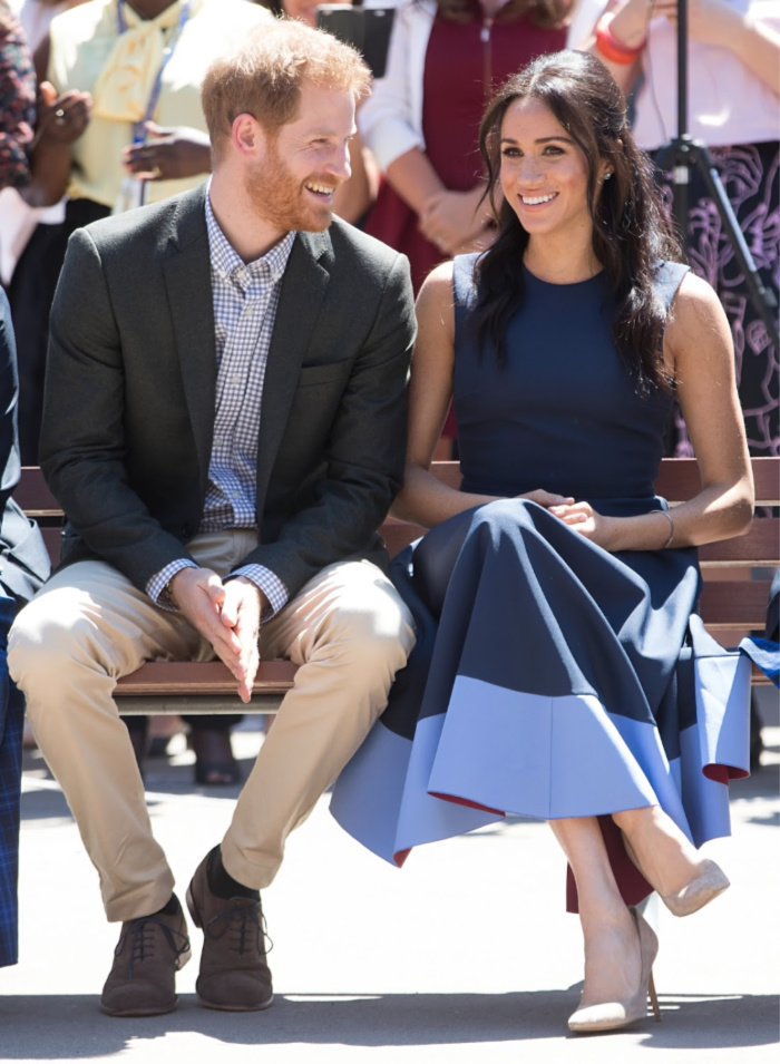 Prince Harry and Meghan made a surprise visit to the school on day four of their tour.