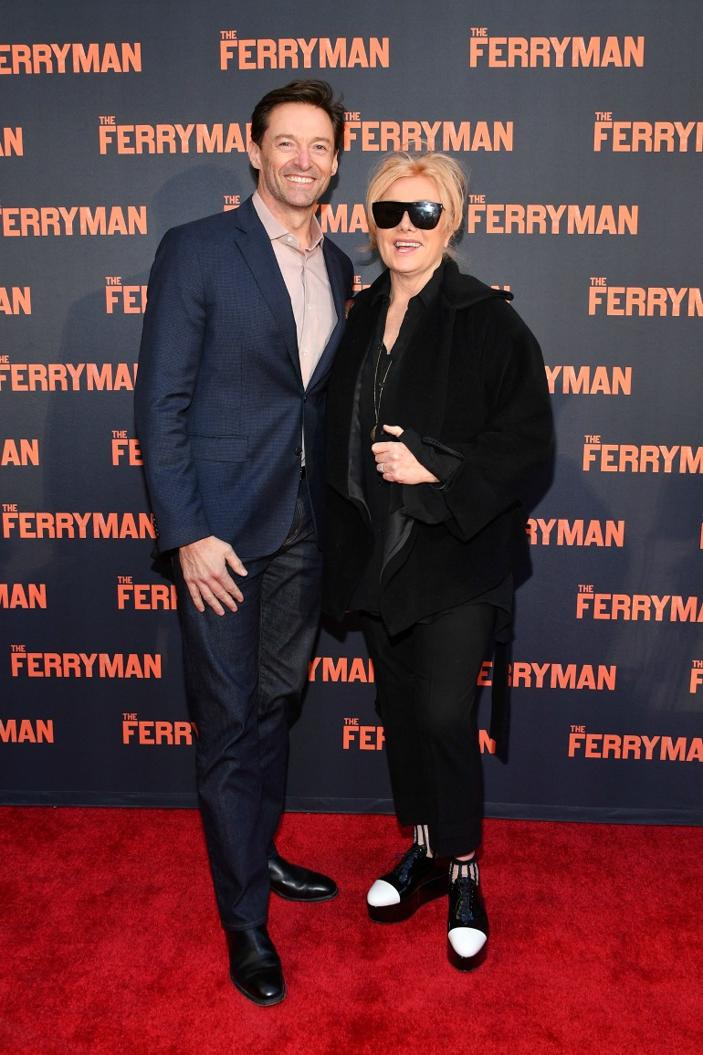 Deborra-lee Furness and Hugh Jackman looked as close as ever as they attended the opening night of The Ferryman in New York City on Sunday. Source: Getty