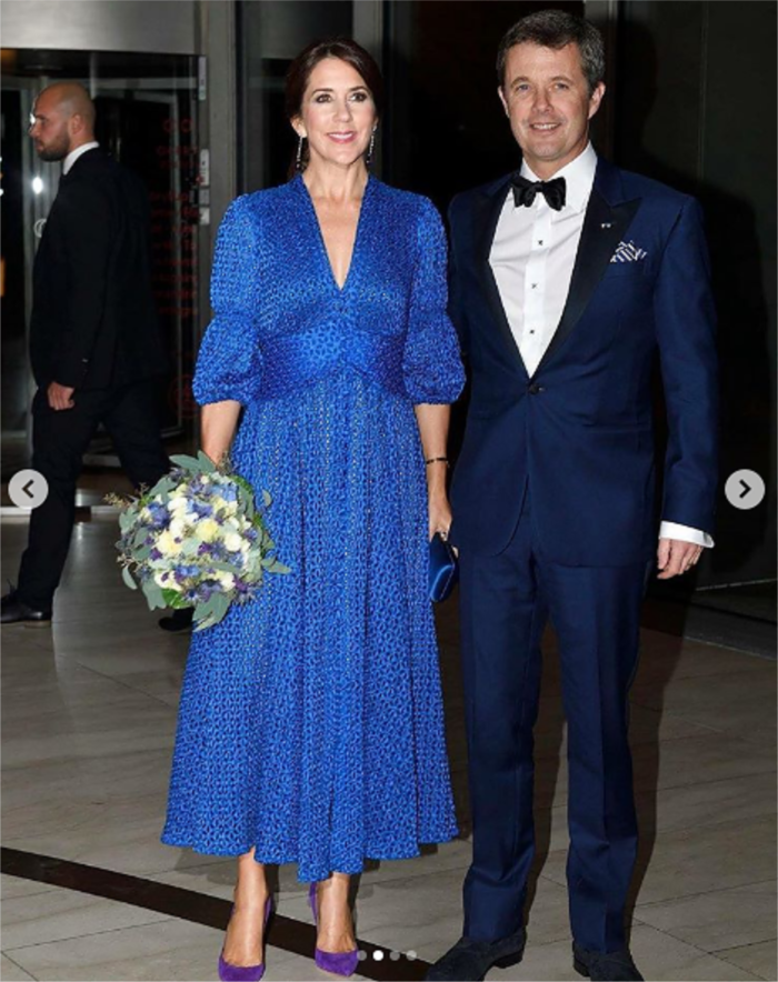 Princess Mary looked stunning in the vibrant blue dress.