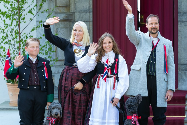 Princess Mette-Marit, pictured here with her husband Haakon and her children Prince Sverre Magnus and Princess Ingrid Alexandra, has been diagnosed with chronic lung disease.