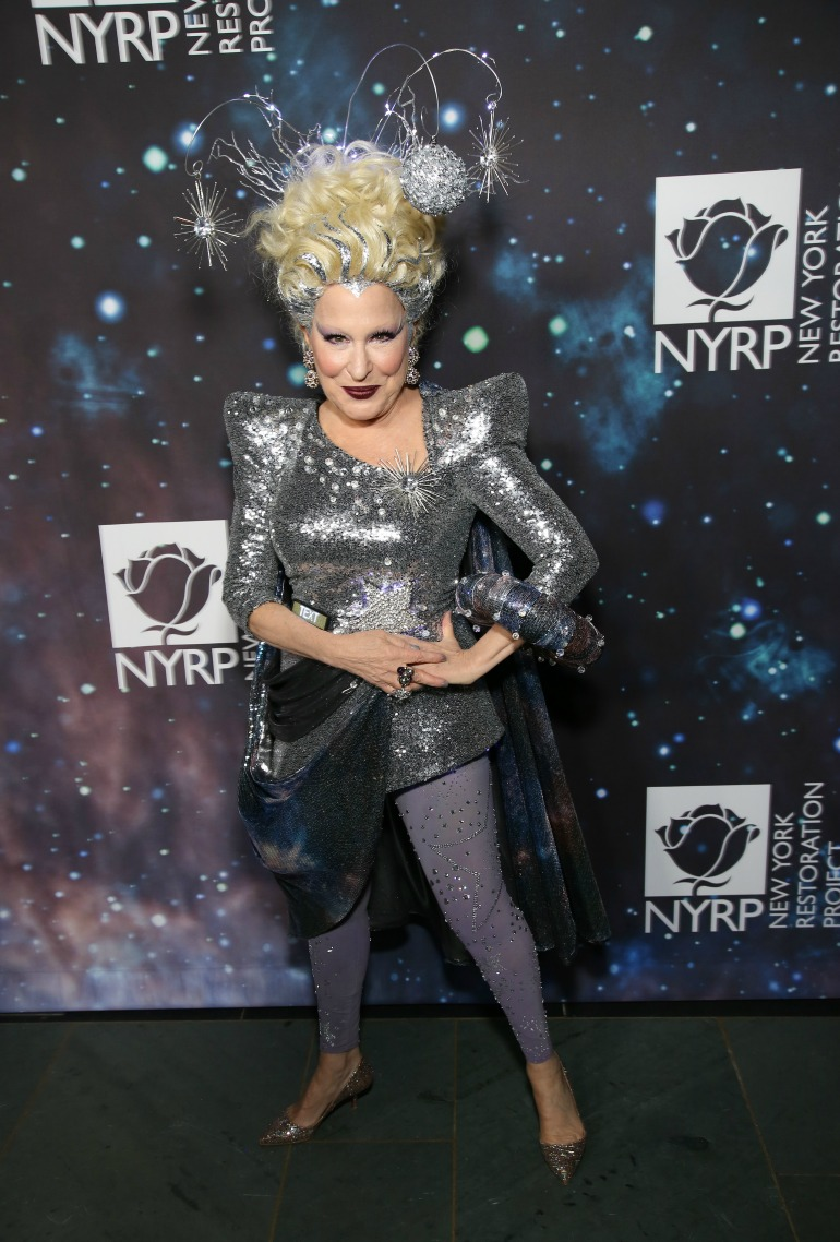 Bette Midler didn't disappoint in the costume department as she hosted the annual Halaween Gala in Manhattan on Monday night. Source: Getty