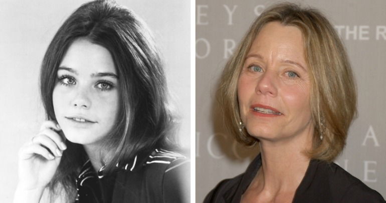 Susan Dey has kept her glamour through the years. Source: Getty (right).