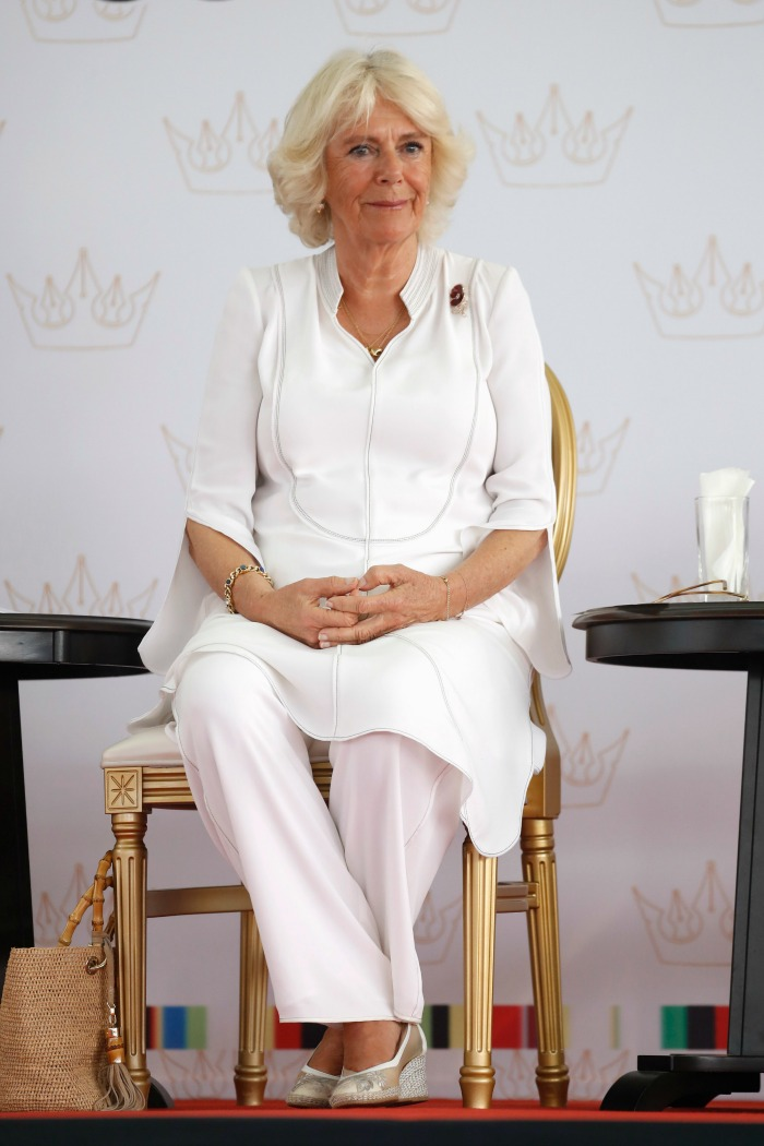 Camilla, Duchess of Cornwall attends The Queen's Commonwealth Essay Competition 2019 at Ghana International School.