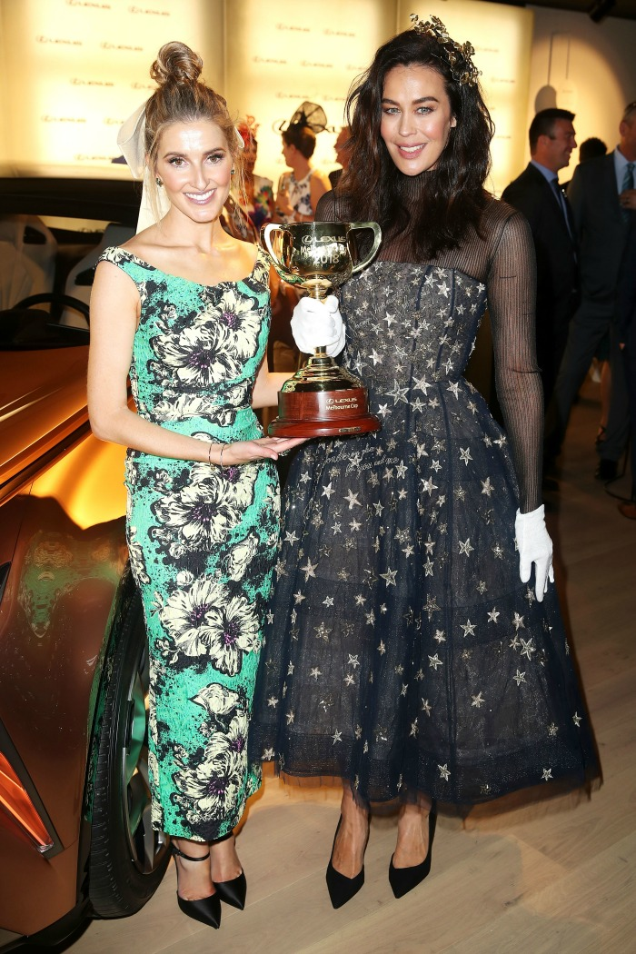 Kate Waterhouse and Megan Gale posed together. Source: Getty.