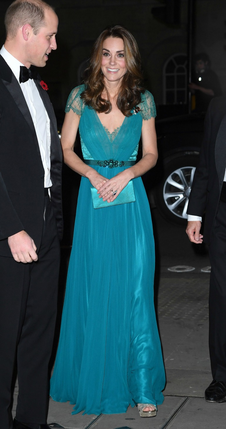 Catherine looked stunning as she joined her husband Prince William, both 36, at the Tusk Conservation Awards at Banqueting House, London on Thursday night. Source: Getty
