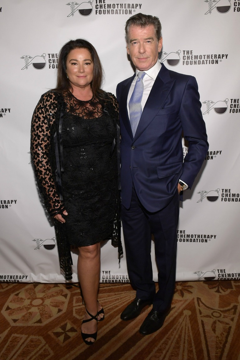 Pierce Brosnan and his wife Keely Shaye Smith put on a stunning display as they arrived at the Chemotherapy Foundation's Innovation Gala. Source: Getty