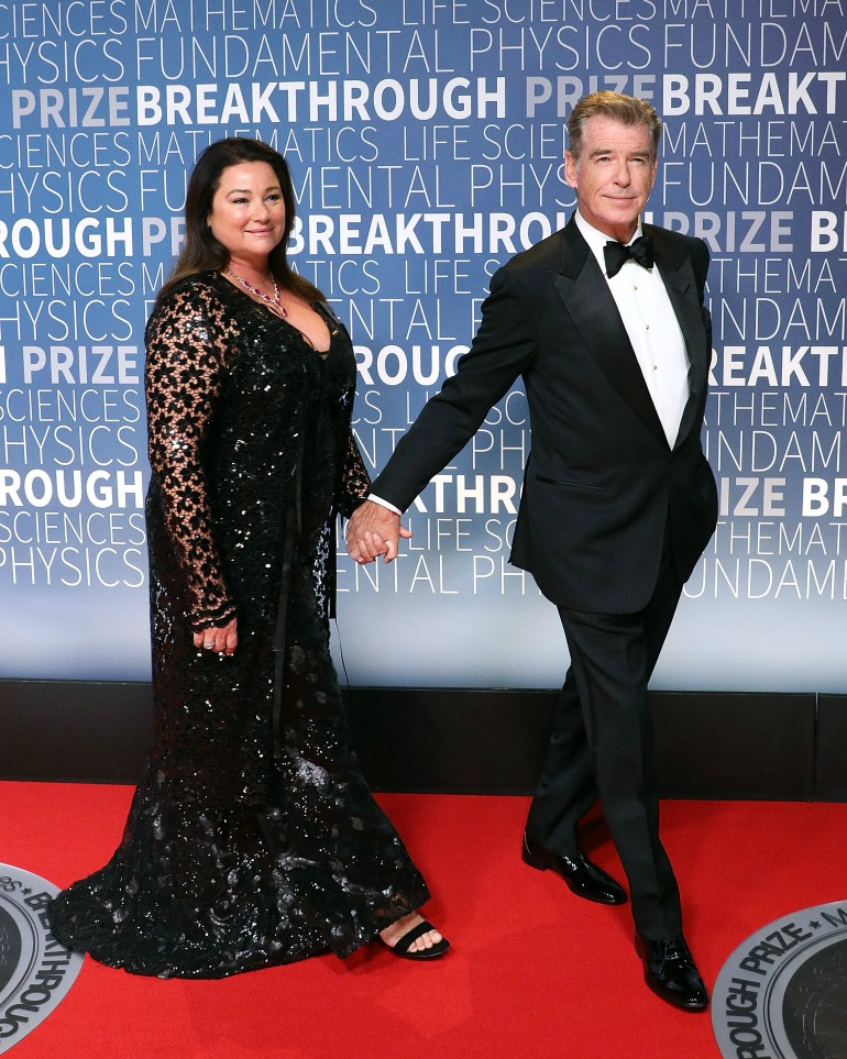 Pierce Brosnan and Keely Shaye Smith attended the 2019 Breakthrough Prize at the NASA Ames Research Center in California last Sunday night. Source: Getty