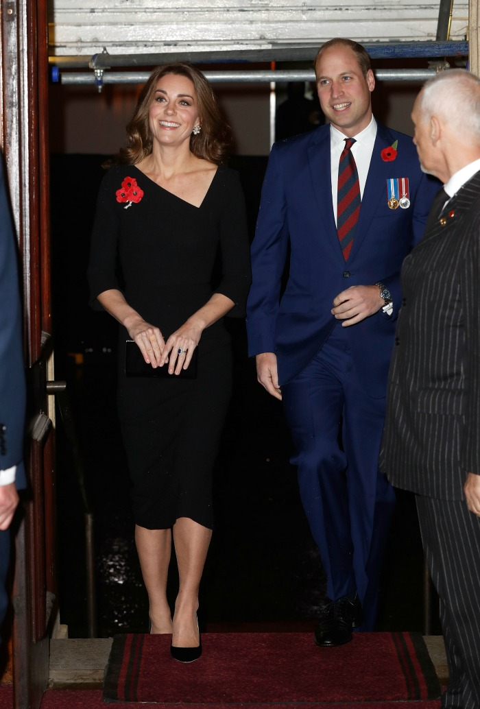 Catherine looked lovely alongside Prince William. Source: Getty.