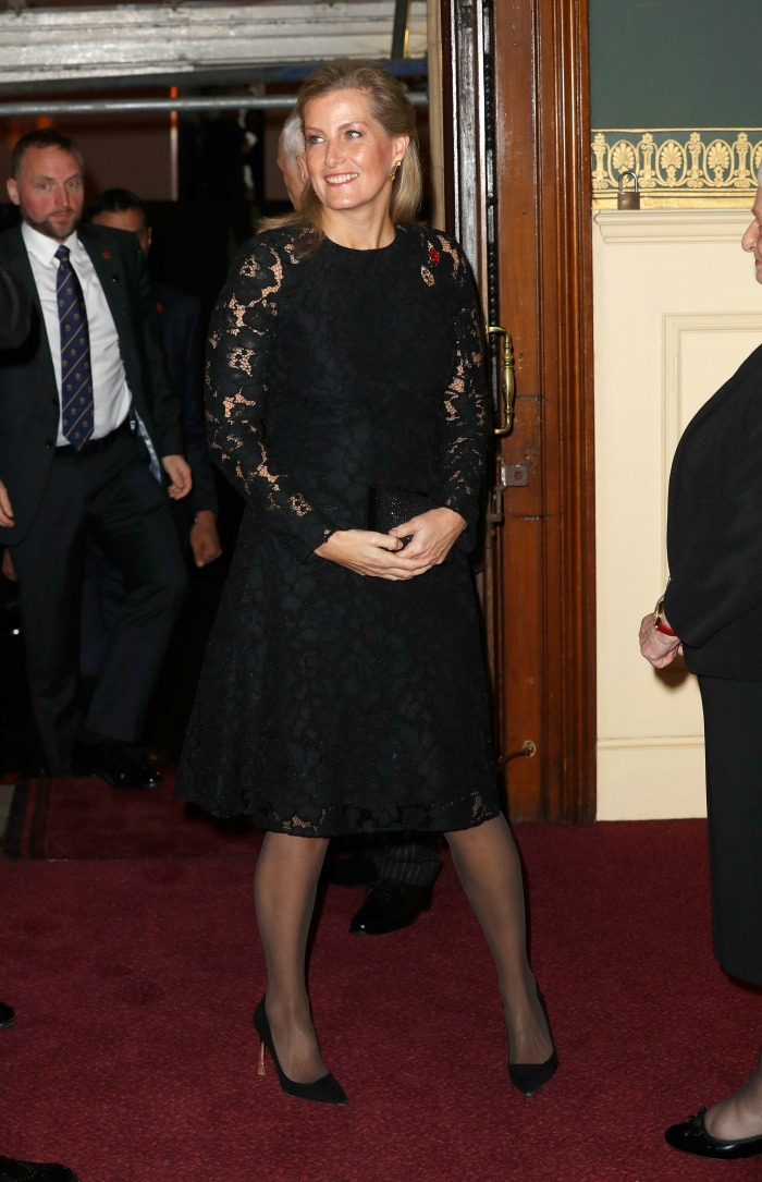 Sophie Wessex was stunning in black lace. Source: Getty.