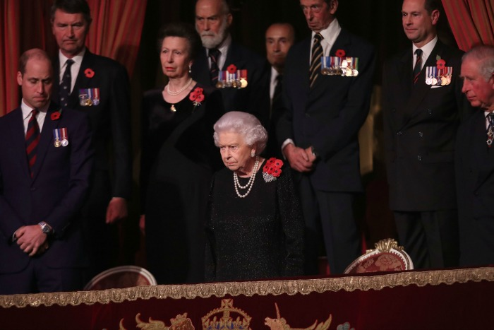 The Queen was surrounded by family at the event. Source: Getty.