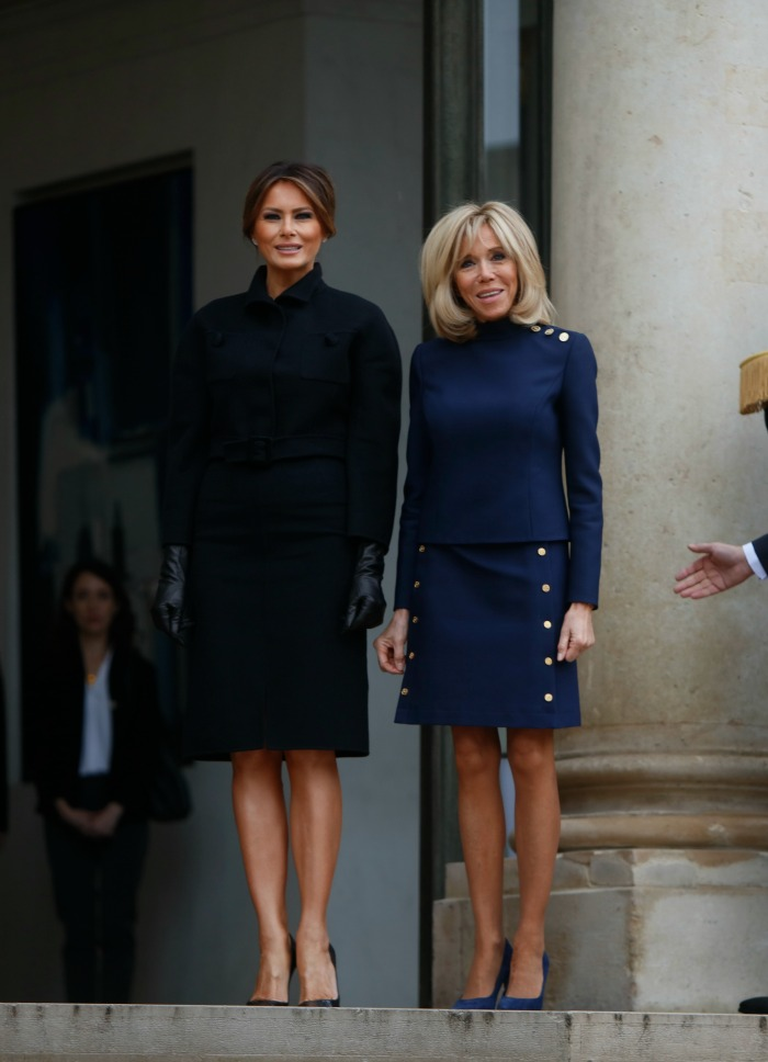 The First Ladies stole the limelight in knee-length dresses. Source: Getty.