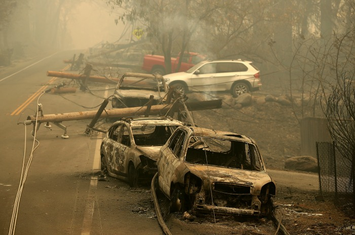 Whole towns have been destroyed by the fires. Source: Getty.