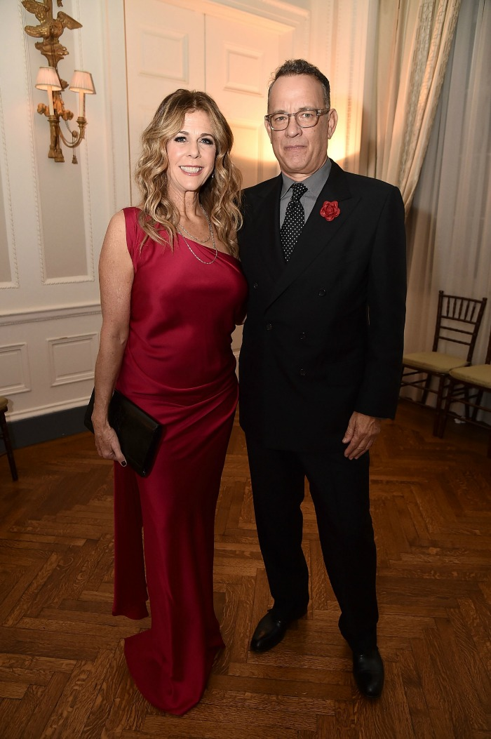 Tom Hanks and Rita Wilson made a very glam couple. Source: Getty.