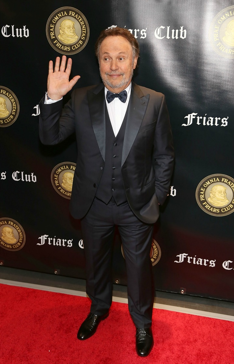 Billy Crystal was honoured with the Friars Club's Entertainment Icon Award on Monday night. Source: Getty