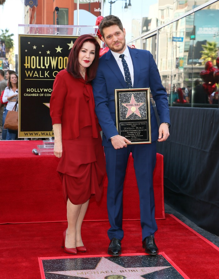 Priscilla Presley was at the event where Michael Buble was honoured with his very own star on the Hollywood Walk of Fame.