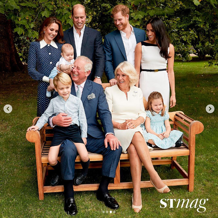 The royal family shares a laugh together at Highgrove House.