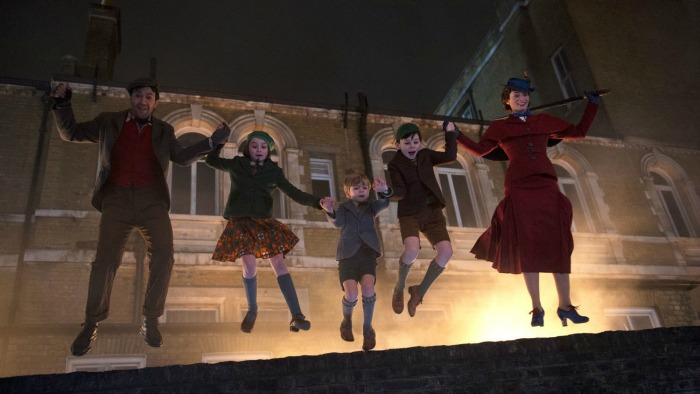 Emily Blunt appears as Mary Poppins in the sequel to the 1965 classic.