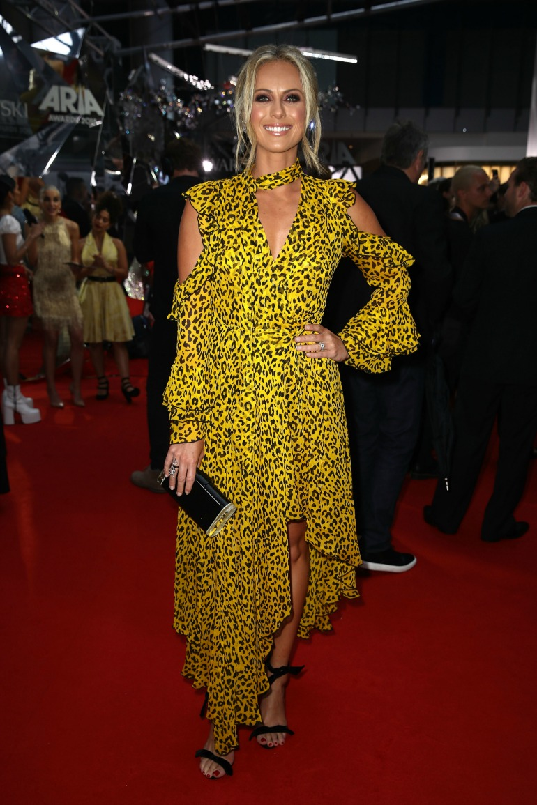 Sylvia Jeffreys looked incredible in yellow. Source: Getty