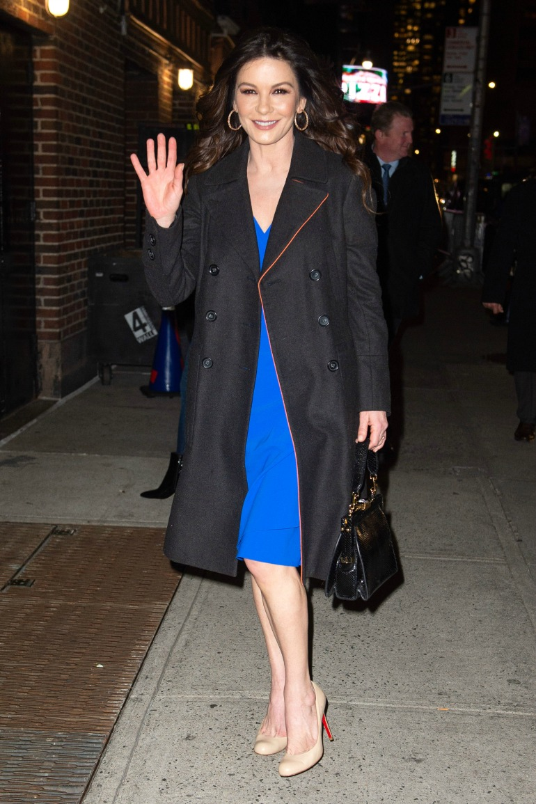 The Welsh actress looked lovely in blue. Source: Getty