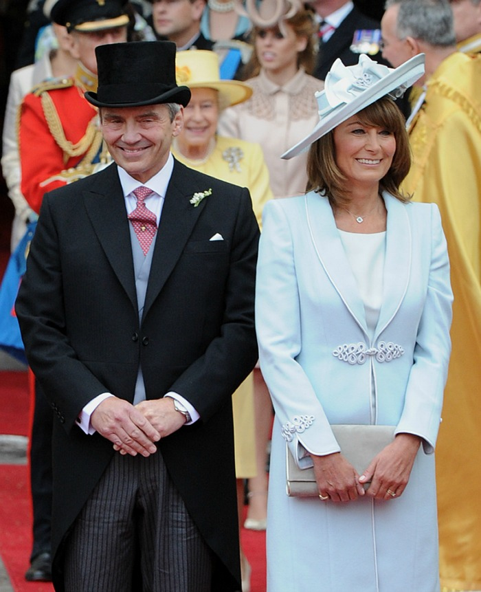 Carole Middleton opted for sky blue at the 2011 wedding. Source: Getty.