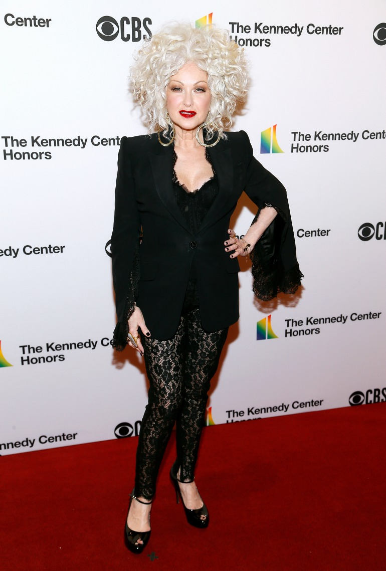 Cyndi Lauper turned heads in a daring ensemble. Source: Getty
