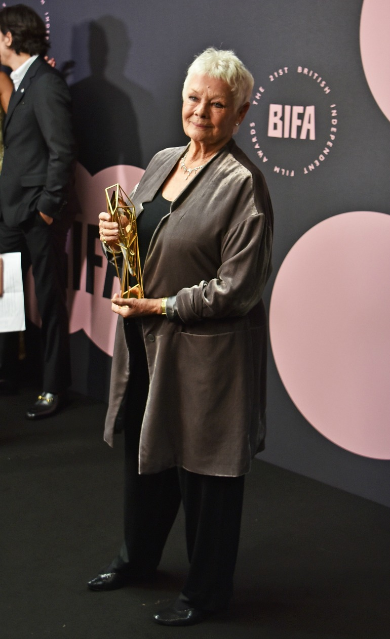 Judi Dench stunned at the 21st British Independent Film Awards on Sunday. Source: Getty