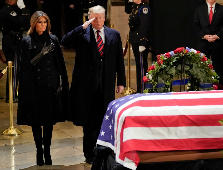 Nation Pauses Wednesday to Mourn Former US President George H.W. Bush