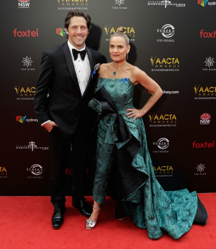 Shaynna Blaze posed alongside Charlie Albone on the red carpet. Source: Getty.