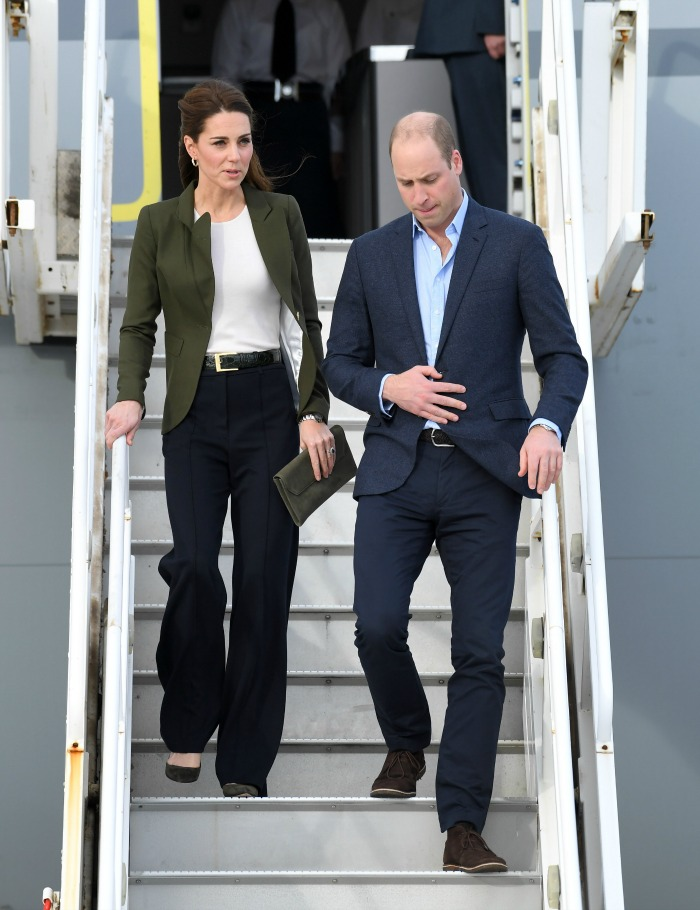 Catherine stood out in the flared trousers. Source: Getty.