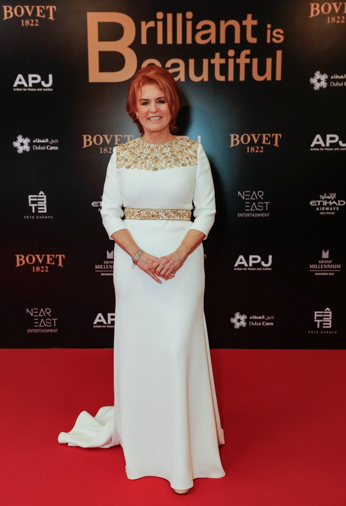 Sarah Ferguson wowed at the Artists for Peace and Justice & Bovet 1822 Gala on Friday night.