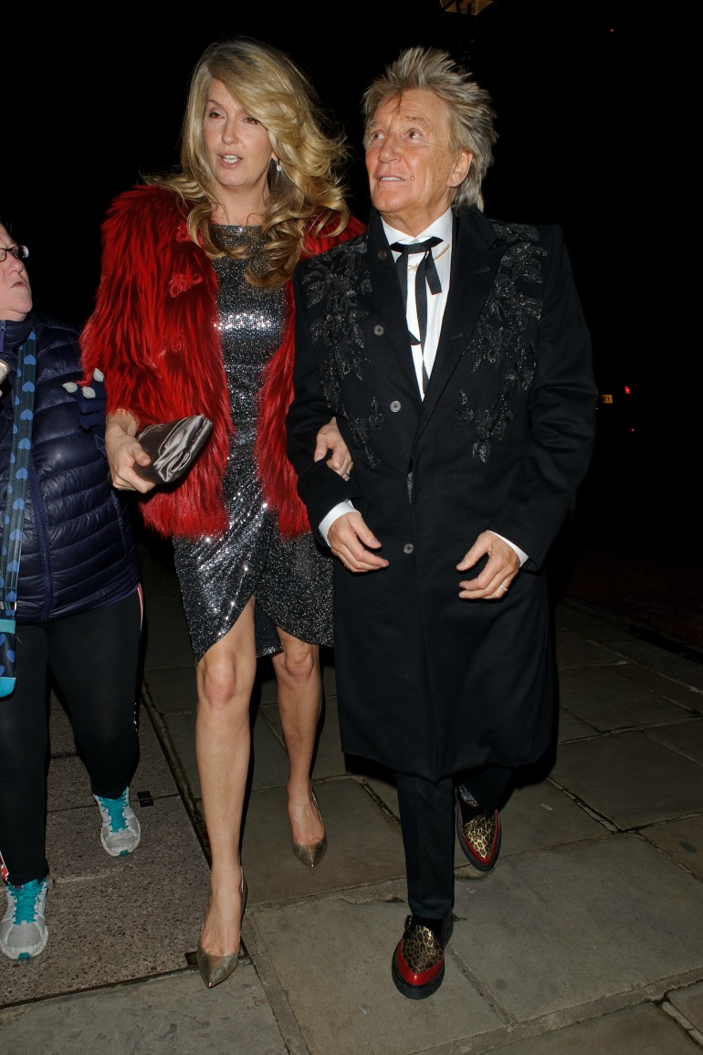 The loved-up couple stepped out together for the Evgeny Lebedev Christmas Party in London on Friday night. Source: Getty
