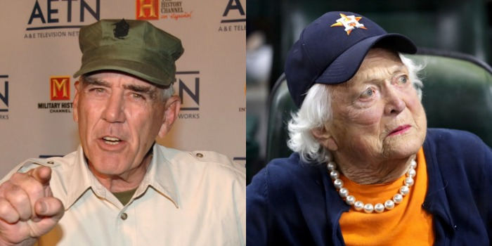 R. Lee Ermey and former first lady Barbara Bush died in April. Source: Getty.