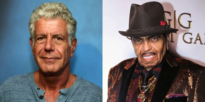 Anthony Bourdain (left) and Joe Jackson (right) passed away in June. Source: Getty.
