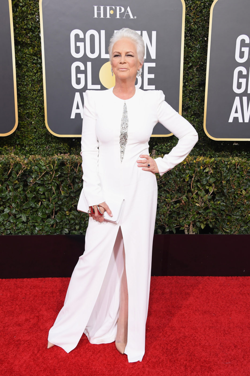 Jamie Lee Curtis looked sensational in all white. Source: Getty